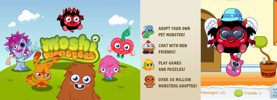 Moshi Monsters: free virtual worlds online